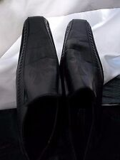 Zoyla Italia Men's Black Leather Cross Loafers with whip stitching Size 7 NICE!