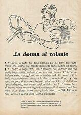 Y0931 FIAT 509 inizia il regno della Donna guidatrice - Pubblicità 1928 - Advert