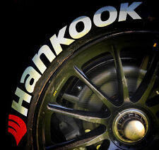 "TIRE LETTERS - HANKOOK - 1.0"" For 18"" 20"" Wheels (8 Stickers) Permanent White"