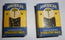 Vtg. American Tack Co. Hammered Upholstery Nails Antique Brass Finish ~ Nib
