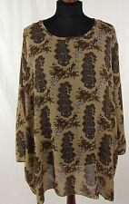 ULLA POPKEN Damenbluse Gr. ca. 56 mehrfarbig Tunika Bluse Blouse Blusa