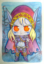 Warcraft Art - Sylvanas Windrunner - Unique & Original & Signed illustration