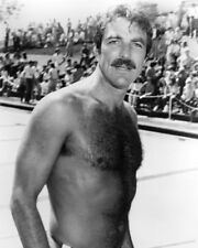 Tom Selleck Hunky B&W Graph Bare Chested 16x20 Canvas Giclee