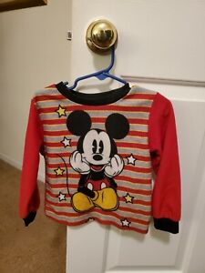 Long Sleeve red 4T mickey Mouse Short