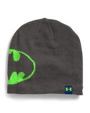 Under Armour CGI Women's Graphite/Hyper Green Batman Logo Jacquard Beanie Sz OS