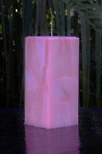 200hr COCONUT FRANGIPANI Triple Scented Square Candle TROPICAL FRAGRANCED GIFT