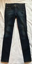 Rag And Bone Womens Jeans Size 26 Wakefield Bomber Legging Leather Trim Dark