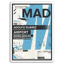 2 x 10cm MAD Adolfo Suárez Airport Vinyl Stickers - Madrid Spain Sticker #17419