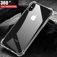 For iPhone 7 Plus –  Full Body 360 Silicone / Tempered Glass Screen Protector