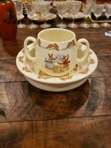 Royal Doulton Bunnykins Cereal Bowl and Mug Set Vintage