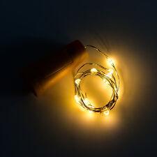 15/20 LED Cork Shaped Starry Light Bottle Wine Glass String Fairy Night Lightmda Warm White 15