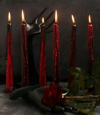 Halloween Decor Candles - Night Light - Set of 6 - by Size 9 inch - Red & Black