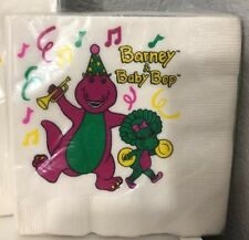 New VTG Barney & Baby Bop Birthday Party Supplies Small Napkins NEW 1993