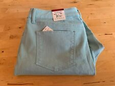 TALBOTS Women's Flawless Five-Pocket Slim Ankle Jeans Pale Green Size 16P ~ New!