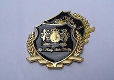 2PCS 3D Metal Emblem Car Body Door Window Side Stickers Badge For JP Golden