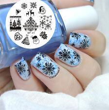 Christmas Nail Stamping Image Plate Nail Art Stamp Template BORN PRETTY BP01