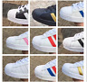 Pop Superstar Fashion Men's Ladies Striped Sport Running Sneakers Trainers Shoes