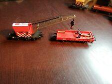 Märklin 4671 Kranwagen Rot mit Zusatzanhänger