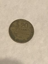 FRANCE 1952 20 FRANC Coin 🇫🇷 French Coinage Chicken 🐓 Post War Nice!