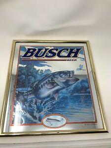 Rare 1998 John Q Wright - BUSCH BEER - Bass Fishing Mirror! No Reserve!