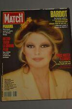 REVUE PARIS MATCH N°2087 /1989 COVER BRIGITTE BARDOT / PANAMA / A CANNES