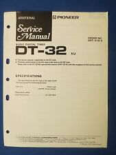 PIONEER DT-32 TIMER SERVICE MANUAL ORIGINAL FACTORY ISSUE THE REAL THING