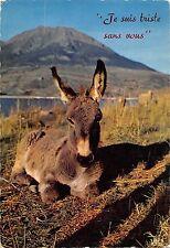 BR56402 je suis Triste sans vous ane donkey Animaux animals