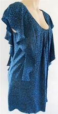 FOREVER NEW ANIMAL PRINT SHIFT DRESS BLUE BLACK SILK BNWT 6-8-10-12