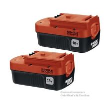 18V Volt Battery Black & Decker NiCd Outdoor Power Tool Replacement HPB18 2 Pack