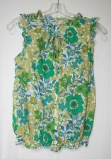 Old Navy Womens Size XS Sleeveless Button Front Floral Top Shirt Blouse