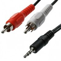CABLE AUDIO ESTEREO MINI JACK 3.5mm MACHO A 2 RCA MACHO 1,5 Metros MINIJACK-2RCA