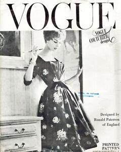 Rare - VOGUE COUTURIER DESIGN Sewing Pattern 100 ©1957 Misses Dress, Size 12, FF