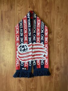 Adidas New England Revolution Official MLS Soccer Football Scarf Red White Blue