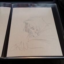 DR DOOM-HAND DRAWN & SIGNED/ ANGEL MEDINA W/ COA(~8x11)