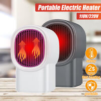 500W 220V Mini Portable Plug-in Electric Wall-outlet Space Heater Fan Heate