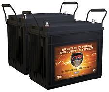 QTY 2 VMAX MR147 12V 155AH AGM Deep Cycle AGM Battery for 24V Trolling Motors