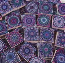 Ceramic Mosaic Tiles - Moroccan Tile Design Purple Moroccan Medallions Mosaic