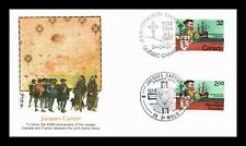 DR JIM STAMPS JACQUES CARTIER FIRST DAY ISSUE COMBO CANADA FRANCE COVER