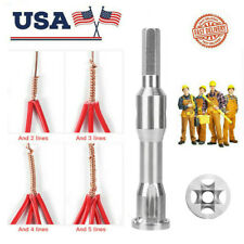 4 And 5 Square Cable Wire Stripping And Twisting Twister Power Tool US FREE SHIP