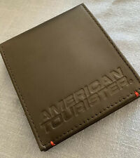 American Tourister Genuine Black Leather RFID Protection Slim fold Wallet / New