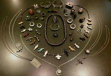Lot of Vintage Sterling Silver Southwestern Turquoise Jewelry 261 Grams
