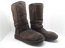 Ugg Australia Women's 5815 Classic Tall  Sheepskin Boots Chocolate Size 7M
