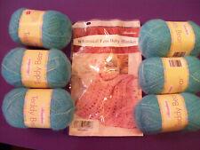 """Herrschners """"Whimsical Fans Baby Blanket"""" Crochet Kit"""