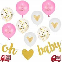 Baby Girl Shower Party Decorations Baby Shower Décor For Girls Printed Balloons