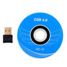 V4.0 USB Wireless Bluetooth Dongle CSR Adapter for PC Windows7 8 10 Vista XP