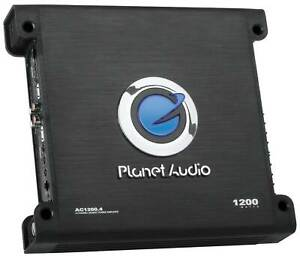 Planet Audio AC1200.4 1200W 4/3/2 Channel Car Amplifier Power Amp Stereo AC12004