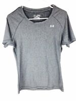 Under Armour Heat Gear Fitted Short Sleeve Gray Athletic Shirt Mens Size Medium