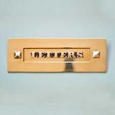 CLASSIC SOLID BRASS VICTORIAN 'LETTERS' LETTERBOX LETTER BOX ANTIQUE