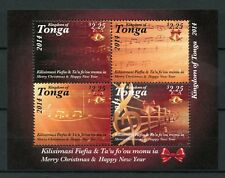 Tonga 2014 MNH Merry Christmas & Happy New Year 4v M/S Music Notes Stamps