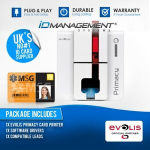 Evolis Primacy Expert Single Sided Card Printer • Low Price • Free UK Delivery